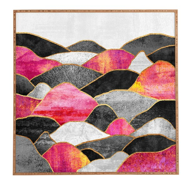 Pink Hills Framed Graphic Art by East Urban Home