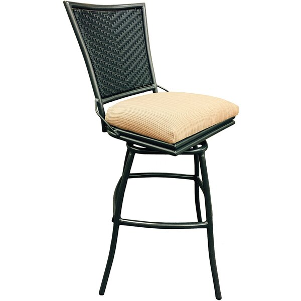 Erin 30 Patio Bar Stool with Cushion by Tobias Designs