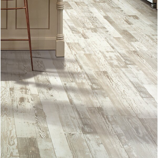 Cashe Hills 7.5 x 47.25 x 7.87mm Pine Laminate Flooring in White by Mohawk Flooring