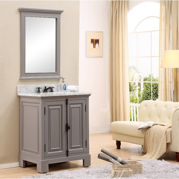 Freemont 30 W Single Bathroom Vanity Set with Mirror and Faucet by dCOR design