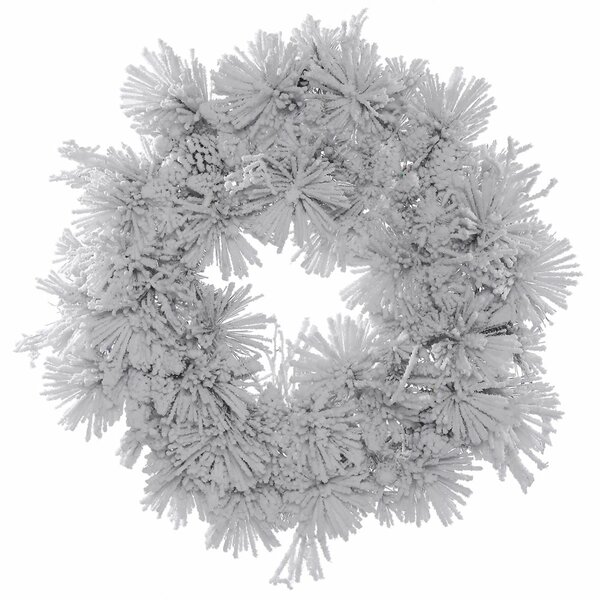 Flocked Artificial Christmas Unlit Wreath by The Holiday Aisle
