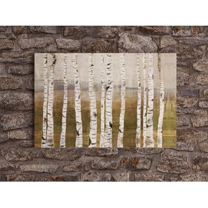 Birches Giclée Painting Print on Wrapped Canvas by Loon Peak