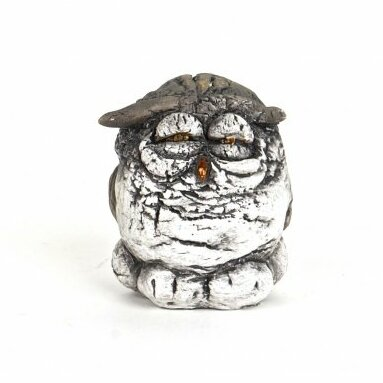Larksville Polyresin Little Owl with Closed Eyes Figurine by August Grove
