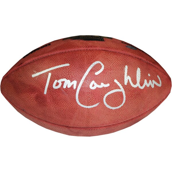 Tom Coughlin Signed Super Bowl 42 Football by Steiner Sports