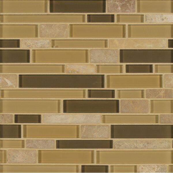 Tiffany Random Sized Glass Mosaic Tile in Brown by Bedrosians