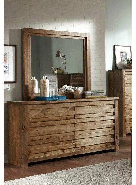 Georgio 6 Drawer Double Dresser with Mirror by World Menagerie