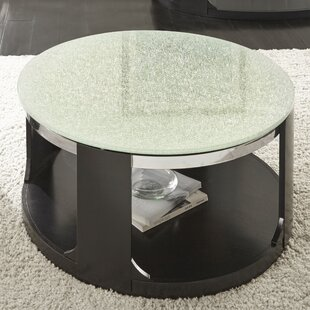 Captivating Charly Cracked Glass Coffee Table