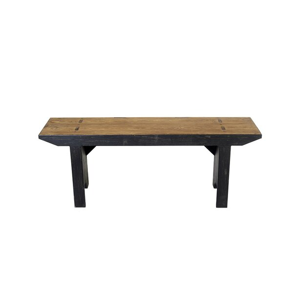 Jaxson Handcrafted Wood Picnic Bench by Loon Peak