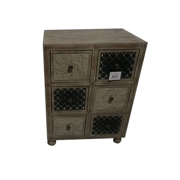 Manoj Wooden 6 Drawer Accent Chest By Gracie Oaks