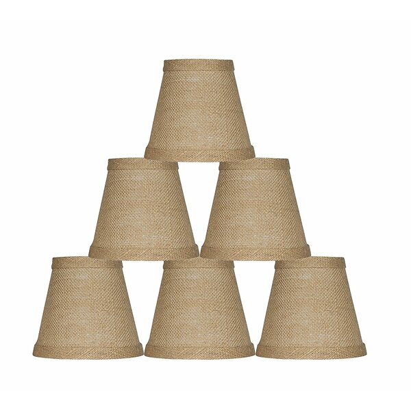 5 Burlap Empire Candelabra Shade (Set of 6) by Bloomsbury Market