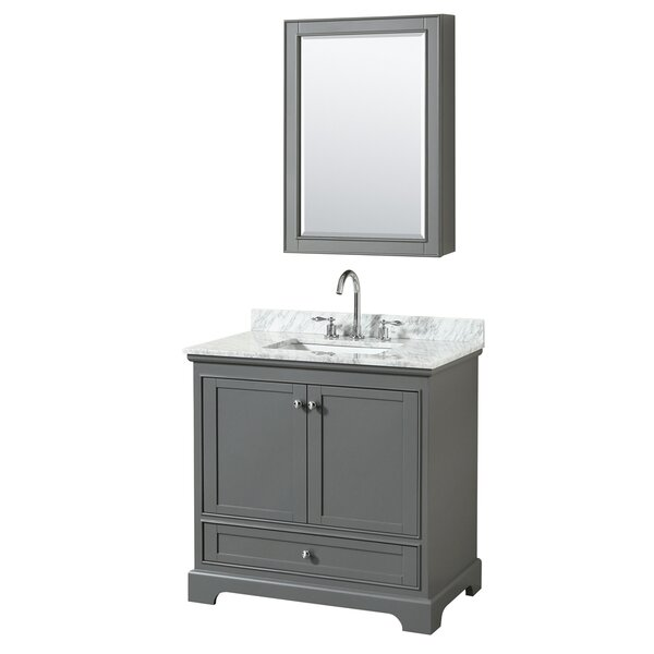Deborah 36 Single Bathroom Vanity Set with Medicine Cabinet by Wyndham Collection