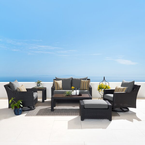 Northridge 6 Piece Sunbrella Sofa Seating Group with Cushions by Three Posts
