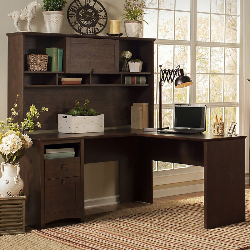 default_name - Darby Home Co Buena Vista Computer Desk With Hutch, Lateral File