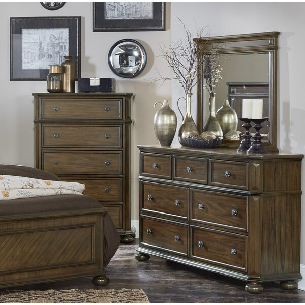 Malik 7 Drawer Dresser With Mirror By Millwood Pines by Millwood Pines Sale
