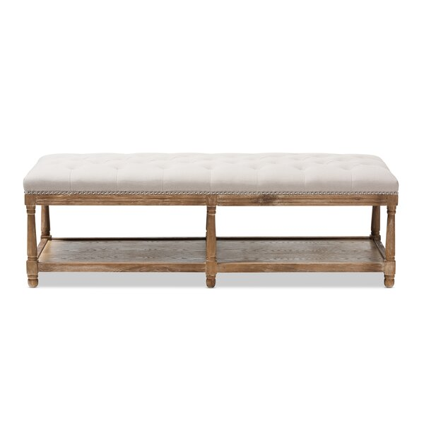 Bem French Country Upholstered Storage Bench by One Allium Way