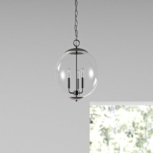 Blakeley 3 - Light  Candle Design Globe Chandelier By Langley Street™