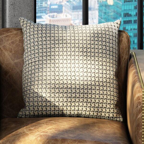 Divya Diamond Stars Leather Throw Pillow by 17 Stories