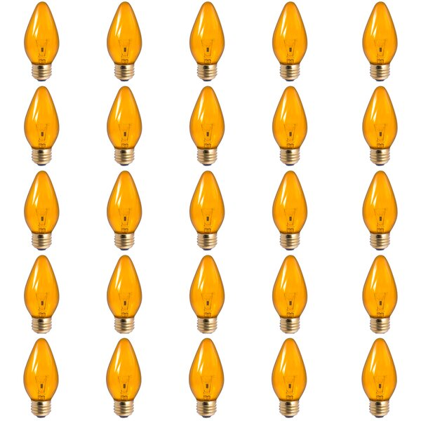 60W E26 Dimmable Incandescent Light Bulb Amber (Set of 25) by Bulbrite Industries