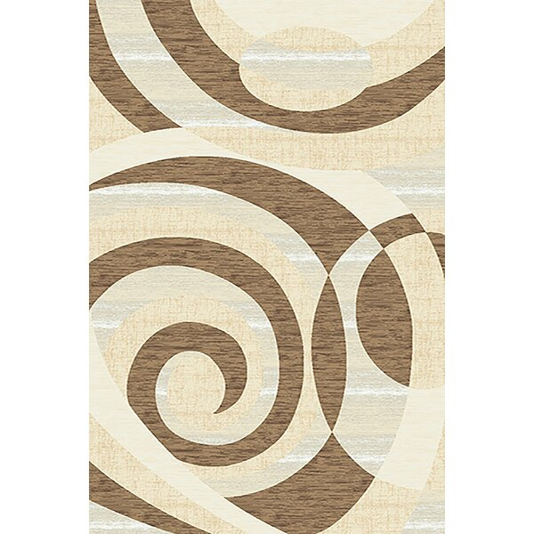 Mccampbell 3D Hand Carved Abstract Beige/Brown Area Rug by Ivy Bronx