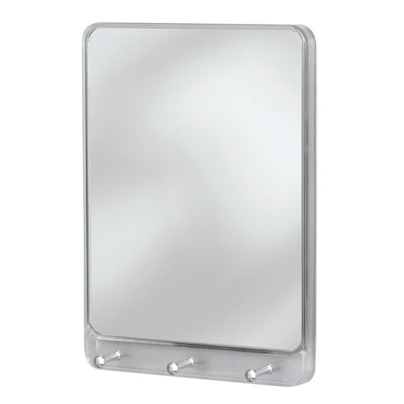 Wall Mount Mirror symple stuff wall mount mirror with key rack & reviews | wayfair
