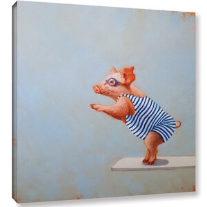 'The Plunge' Painting Print on Canvas by Harriet Bee