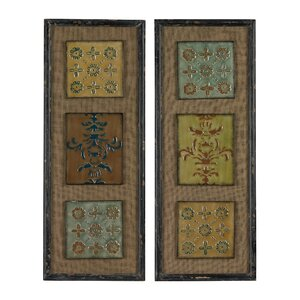 Aughton Spanish Tile 2 Piece Framed Graphic Art Set by Sterling Industries