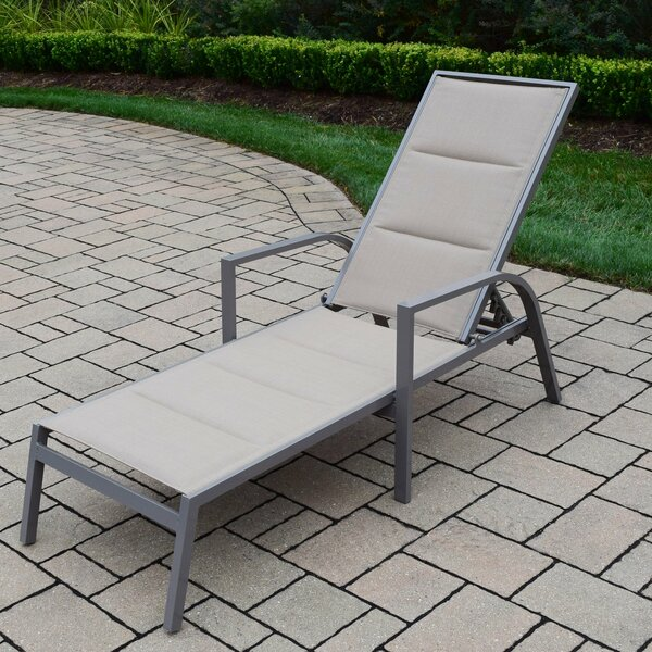 Padded Sling Chaise Lounge by Oakland Living
