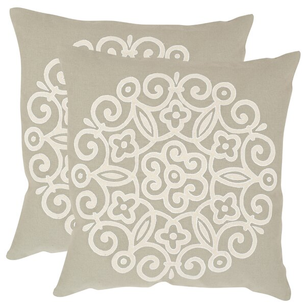 Joanna Cotton Throw Pillow (Set of 2) by Safavieh
