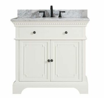 Ruthann Marble Top 37 Single Bathroom Vanity Set by Ophelia & Co.