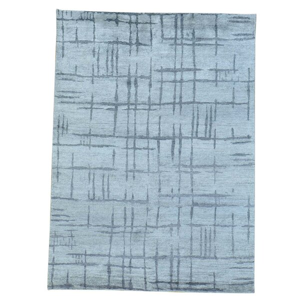 One-of-a-Kind Woodson Broken Hand-Knotted Silk Area Rug by Orren Ellis
