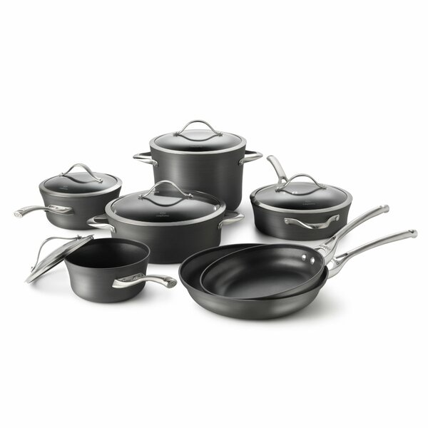 Contemporary Nonstick 12 Piece Cookware Set by Calphalon