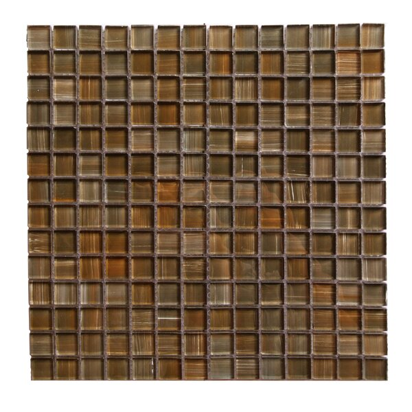 Handicraft II 0.75 x 0.75 Glass Mosaic Tile in Glazed Santa Fe by Abolos
