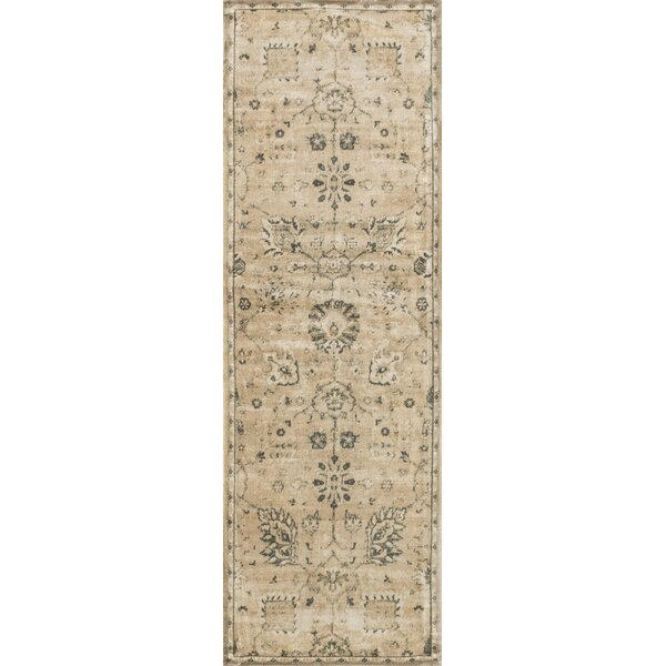 Keever Sand/Charcoal Area Rug by Alcott Hill