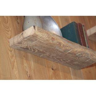 Mcneil Reclaimed Antique Barn Wood 2 Piece Floating Shelf Set