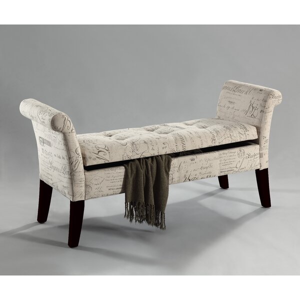 Fabric Storage Bench Microfiber Button Tufted Bedroom Seat: !nspire Tufted Fabric Storage Bench & Reviews