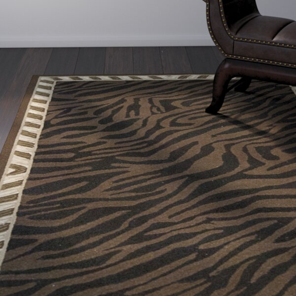 Skandar Hand-Hooked Wool Brown Indoor Area Rug by Bloomsbury Market