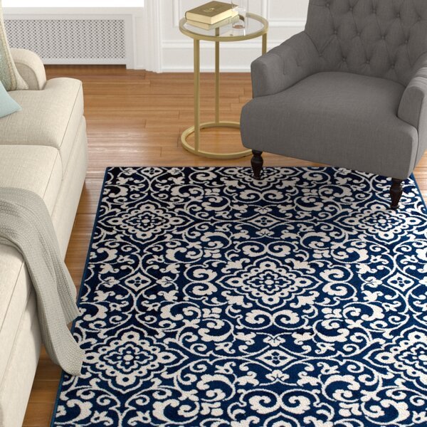 Hughes Navy Area Rug by Charlton Home