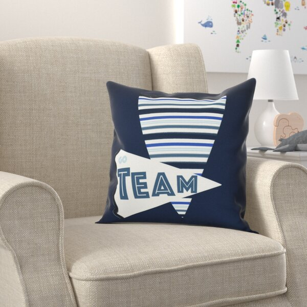 Bauer Go Team! Word Throw Pillow by Zoomie Kids