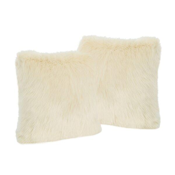Hamblen Furry Faux Fur Throw Pillow (Set of 2) by Greyleigh