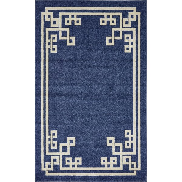 Ellery Dark Blue Area Rug by Willa Arlo Interiors