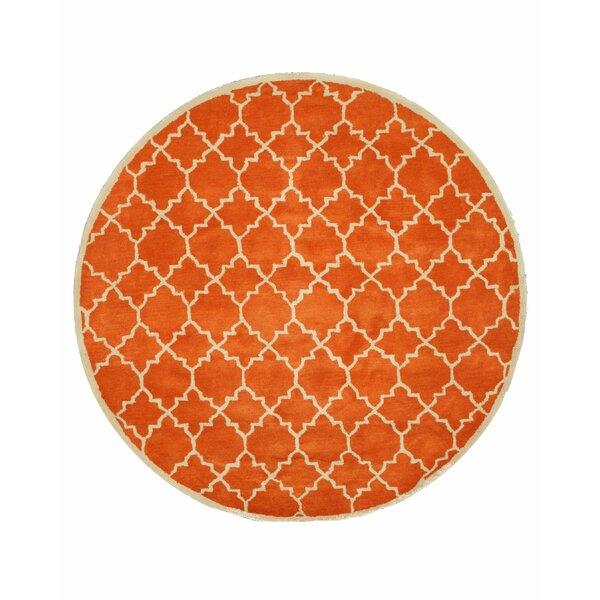 Durrant Hand Tufted Orange Area Rug by Brayden Studio