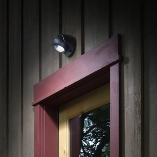 Read Reviews Bethany 6-Light LED Outdoor Flush Mount with Motion Sensor By Symple Stuff