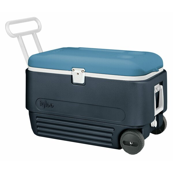 60 Qt. MaxCold Roller Cooler by Igloo