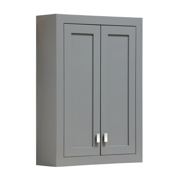 Crisler 24 W x 33 H Wall Mounted Cabinet by Rosecliff Heights