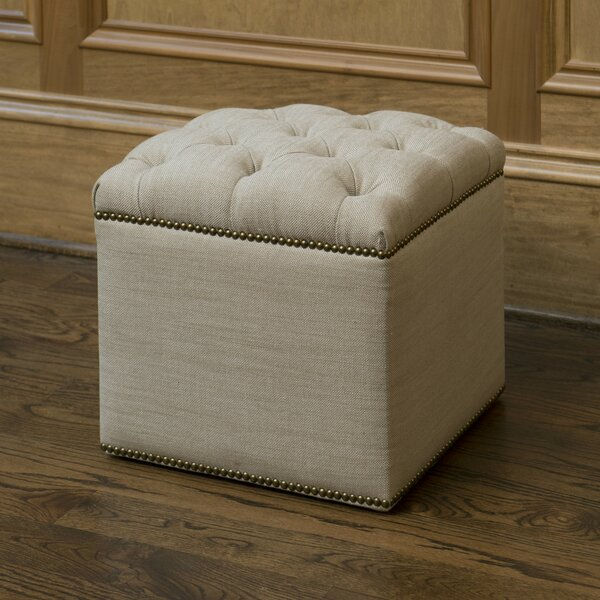 Saix Cube Ottoman by The Bella Collection