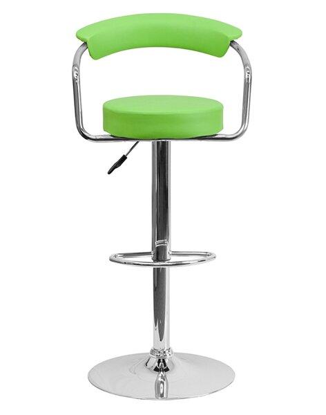 Uma Adjustable Height Swivel Bar Stool by Orren Ellis