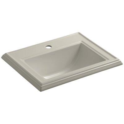 Drop Sink Ceramic Rectangular Overflow Faucet Single 1311 Product Photo