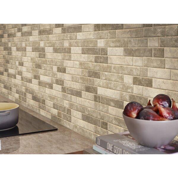 Sandhills Interlocking Random Sized Glass Mosaic Tile in Beige/Brown by MSI