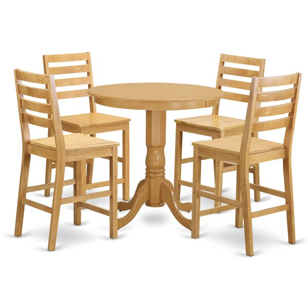 Speights 5 Piece Counter Height Pub Table Set by Charlton Home