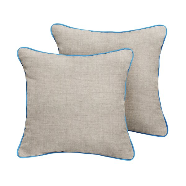 Malvern Sunbrella Cast Outdoor Throw Pillow (Set of 2) by Rosecliff Heights